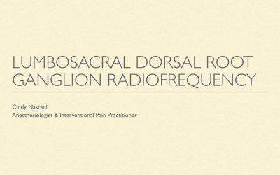 Lumbosacral DRG RF