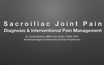 Sacroiliac Joint Pain : Diagnosis & Interventional Pain Management